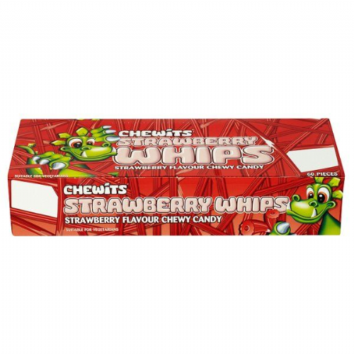 Chewits Strawberry Whips Strawberry 60 Pieces